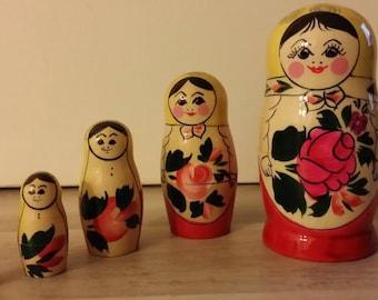 Traditional matryoshka or Russian 5 piece doll