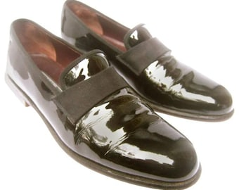 Salvatore Ferragamo Men's Black Leather Dress Shoes.