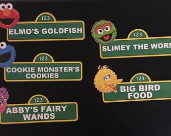 Sesame Street  signs with Character Face