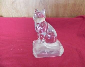 glass cat animal figure clear