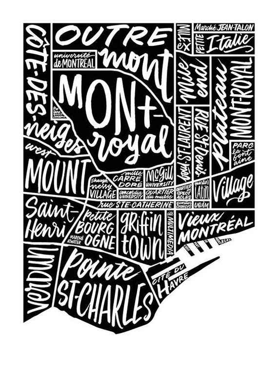Lettered Montreal