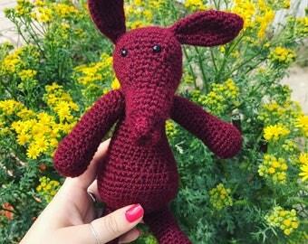 Crochet Larry the Aardvark // Toy // Gift // Stuffed // Plush // Handmade // Quirky