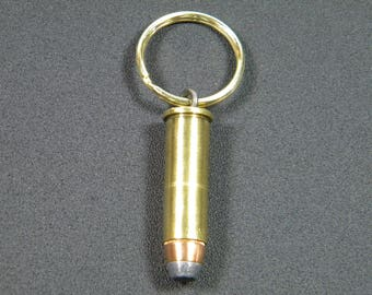 38 Special bullet keychain, key ring, zipper charm, zipper pull, necklace, ammo keychain
