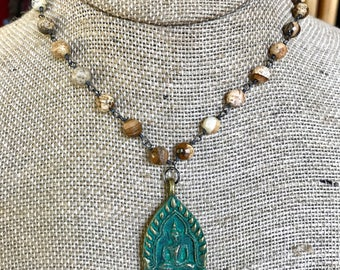 Brown Buddha Necklace