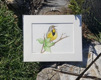 Elegant Bird Art, Wildlife Art, Lake Decor, Original Animal Art, Nature Painting, Part 27