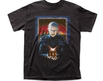 Hellraiser Hell On Earth Men's Traditional Fit 18/1 Cotton Tee (HR02) Black