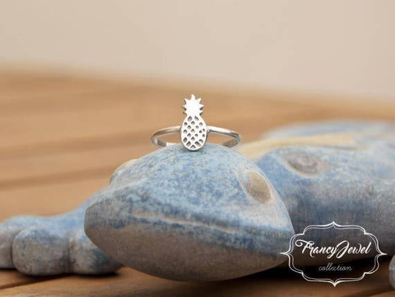 Pineapple, silver pineapple, silver ring, pure silver ring, animal ring, 999 fine silver, made in Italy, birthday gifts, tropical rings