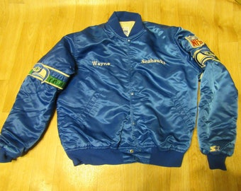 Vintage Seahawks Starter Jacket Satin Proline Large