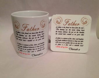 Personalised Mug and Coaster Set
