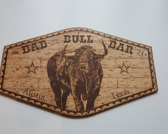 Woodburning Art Bull