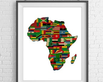 africa map for print