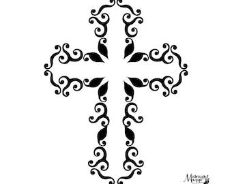 Swirl Cross SVG