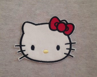 Hello Kitty - Red Iron on Applique Patch