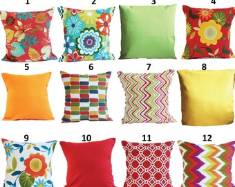 Amazing SALE OUTDOOR Pillow Covers Orange Pillow Cases, Yellow Pillow, Red Pillow,  Pillows Decorative