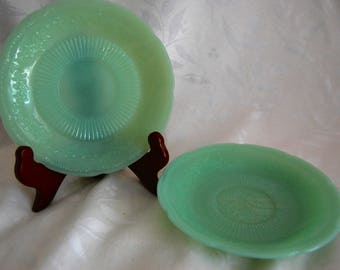 Fire King Alice Jadeite Saucers