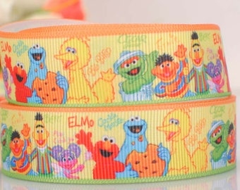 "Sesame Street Grosgrain 7/8"" Printed Ribbon"