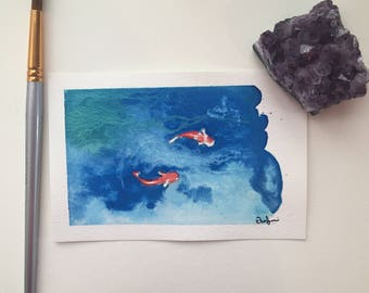 Koi Pond Postcard