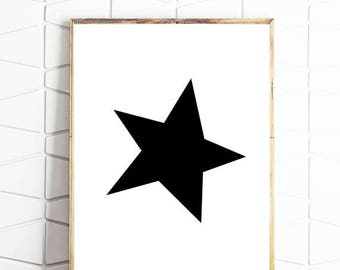 80% OFF star printable decor, star nursery wall art, star scandi art, star printable art, star wall art print, star print, star poster, star