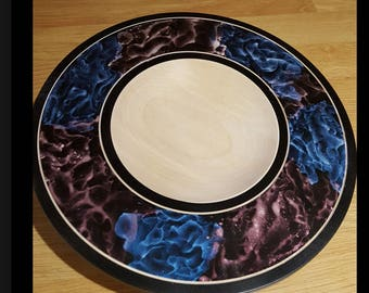 Irridescent wooden platter. Various sizes / colours available.