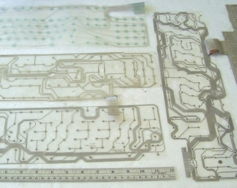 Computer Keyboard Mylar with Silver Traces 5 Sheets, Keyboard Plastic Sheet, Circuit Board Pattern, Geeky Pattern, Geeky Art Pattern