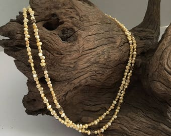 Double Strand Fresh Water Pearl Necklace