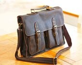Handmade Distressed Laptop Bag 15 Inch Leather Laptop Bag Vintage Mens Laptop bag Mens Bag Mens Laptop Bag Shoulder Laptop Bag