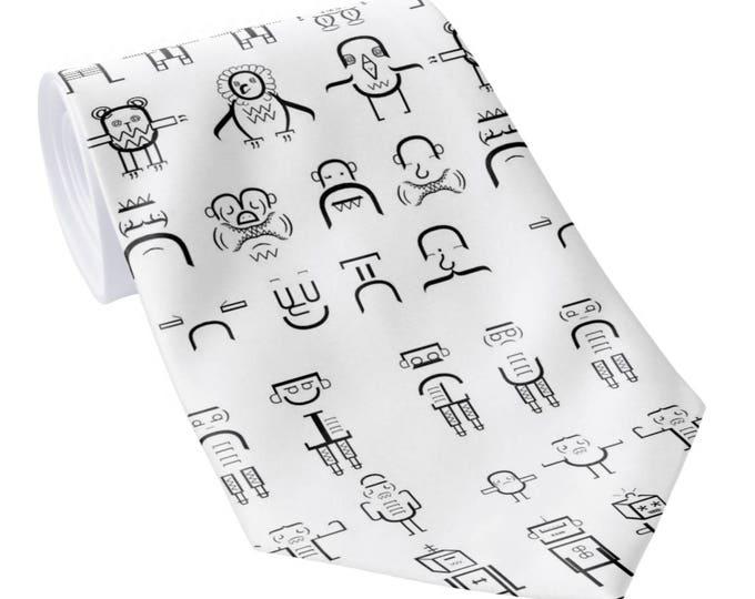 Featured listing image: Robot Designer geek neck tie