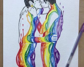 Love is Love Original Watercolor Illustration