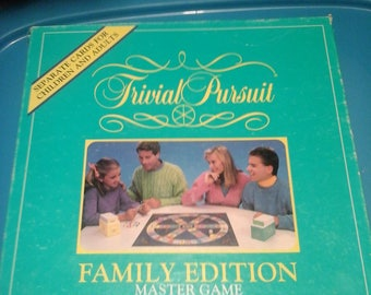 Vintage 1984 Trivial Pursuit family edition master game