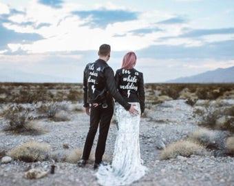 Couples custom personalised wedding jackets