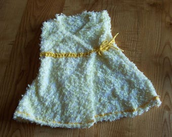 kimono dress baby size six months knitted by hand