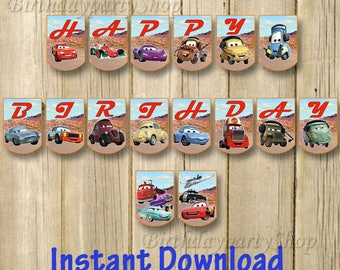 The Disney Cars Birthday Banner, Instant Download, Digital File