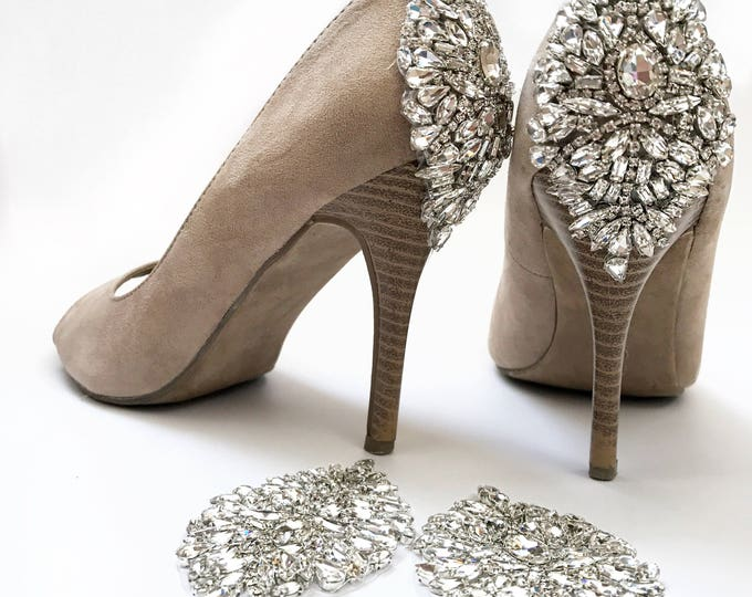 Wedding shoes, DIY crystal wedding shoe appliques kit