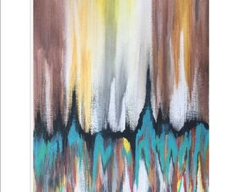 Earthly Abstract Painting, Gallery Wrap Canvas Print, Ready to Hang, International Shipping