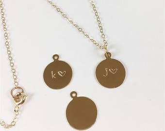 Custom Hand-Stamped Necklace