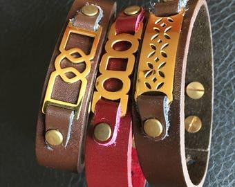 Genuine Leather men or women bracelets