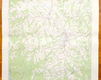 Antique Iva South Carolina 1964 Us Geological Survey Topographic Map Starr Barnes Station