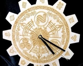 Clock is wood