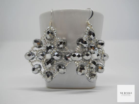Handmade earrings with swarovski and bohemian crystals