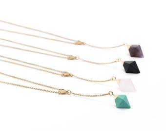 The Diamond Pendulum Lariat Necklace