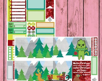 Merry Grinchmas Mauly  - 2 page mini kit - Chop it like it's hot