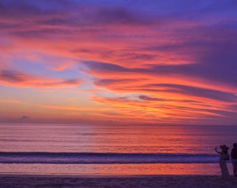 Sunset Selfie PRINTABLE   Bali, Indonesia Photo Print   wall art print, beach photography, sunset photography, decor