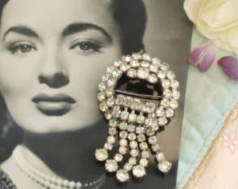 Vintage Art Deco style diamante brooch