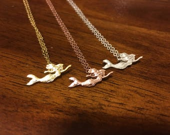 Mermaid - Mermaid Necklace - Mermaid Jewelry - Mermaid Charm - Mermaid Pendant - Beach Necklace - Ocean Necklace - Beach Jewelry - Florida