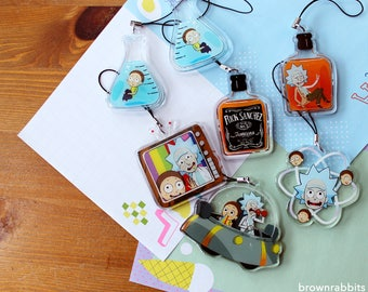 Rick and Morty Charms