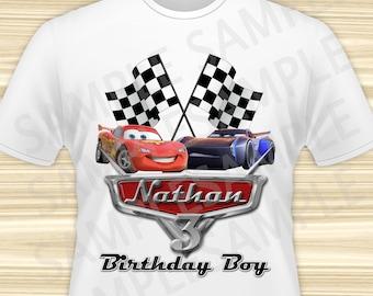 Cars 3 Iron On Printable. Cars Birthday Boy Iron On Transfer. Cars Iron On Transfer. Diy Cars Birthday Shirt. DIGITAL FILE.
