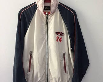 SALE 25% Vintage 90s Asics Jacket Trainer Hip Hop Size M #24