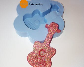 Silicone Mold (hand made) ' guitar '
