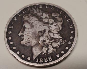 1888O Morgan Silver dollar    #S565