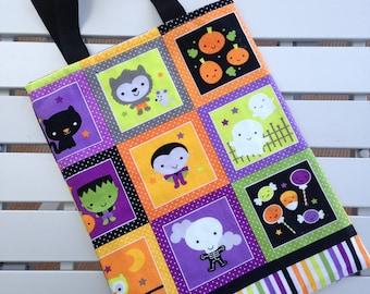 Glow in the Dark Halloween Bag, Halloween, Riley Blake Designs Handmade Halloween Tote, Activity Bag